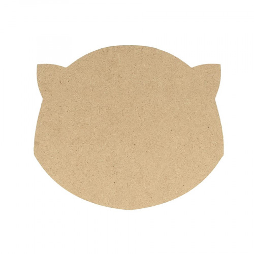Silhouette en MDF Tête de chat - 15 cm