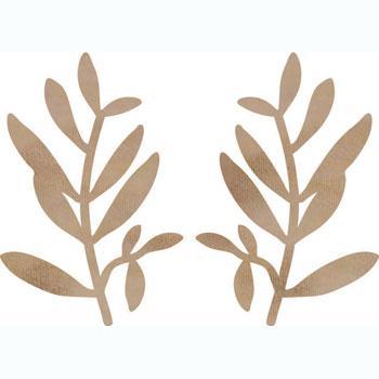 Branches en bois 5,4 x 3,7 cm - 2 pcs