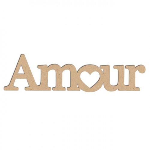 Mot en bois médium - Amour GM - 29 x 7,7 cm