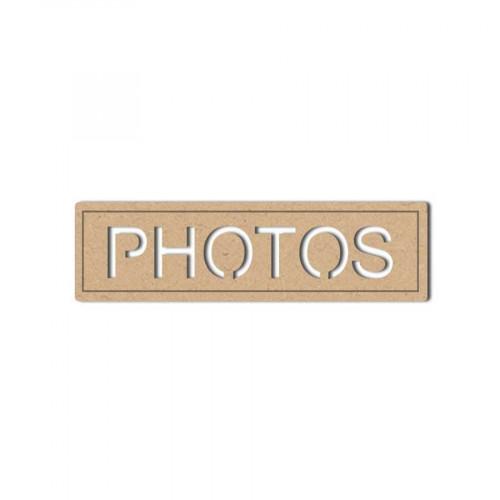 Sujet en bois médium - Plaque Photo - 7 x 2 cm