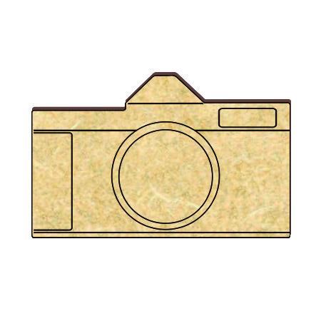 Appareil photo en bois - 4,5 x 3 cm