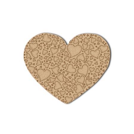 Cœur gravé en bois - 4 x 3,2 cm
