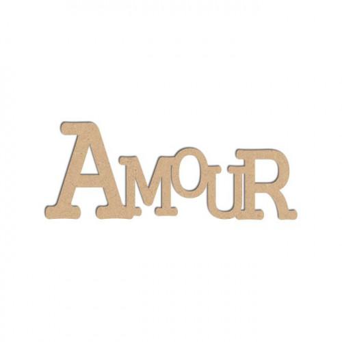 Mot en bois médium - Amour - 5 x 2 cm