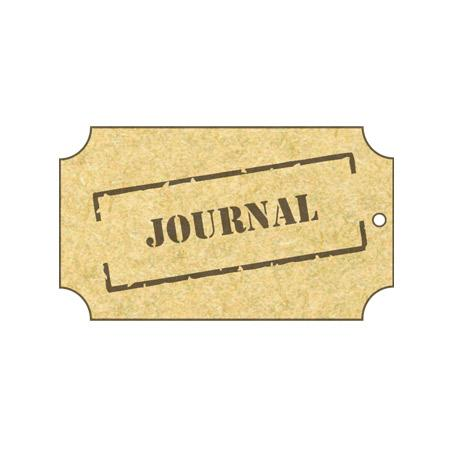 Sujet en bois médium - Plaque Journal - 5,4*3 cm