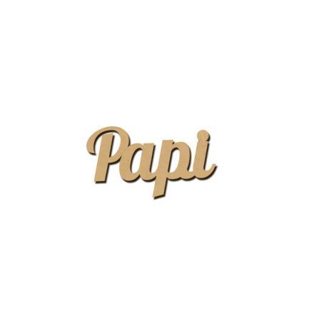 Mot en bois médium - Papi - 2,5 x 1 cm
