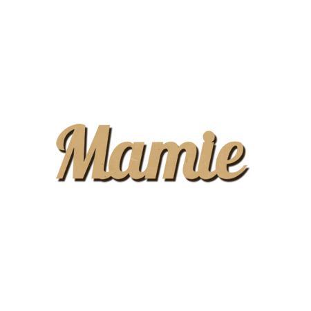 Mot en bois médium - Mamie - 3,7 x 1 cm