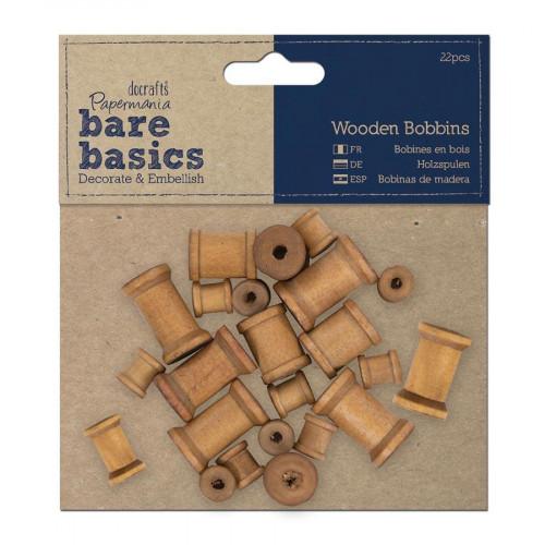 Bare Basics - Formes en bois - Bobines - 22 pces