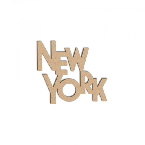 Mot en bois médium - New York - 7 x 6 cm