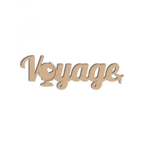 Mot en bois médium - Voyage - 10 x 3 cm