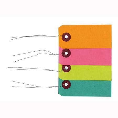Etiquettes fil métal - 9 x 4 cm - x 40 pces