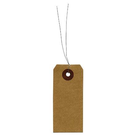 Etiquettes - kraft - 4 x 9 cm - 50 pces