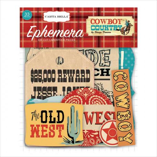Formes découpées en papier Cowboy Country