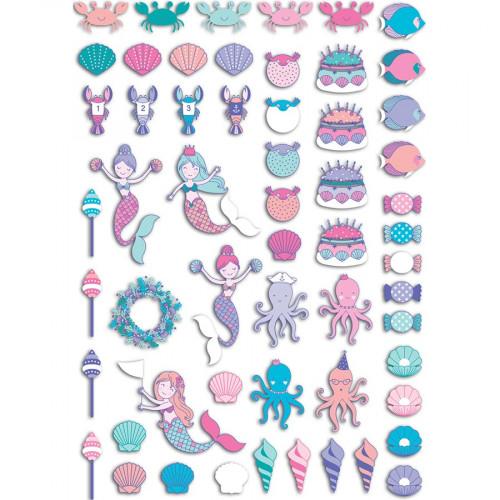 Formes et mots découpés Sous la Mer - 60 pcs