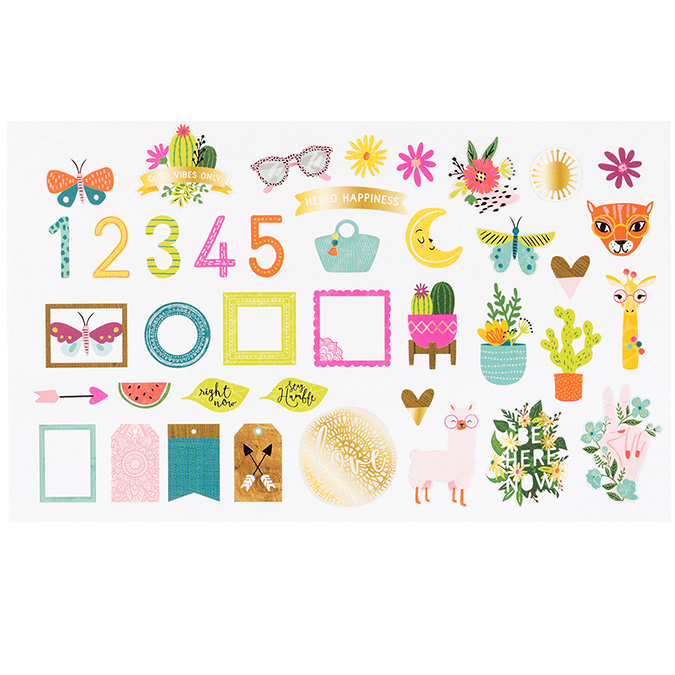 New Day Découpes en papier - 40 pcs