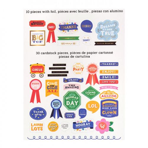 Big Top Dreams Formes découpées en papier Phrases - 40 pcs