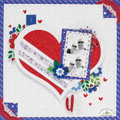 Yankee Doodle - Découpes en papier - 81 pcs