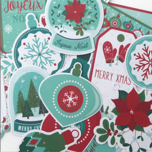Joyeux Noël - Etiquettes - 24 pcs