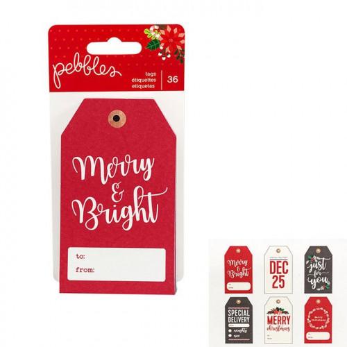 Cozy & Bright Etiquettes - 36 pcs