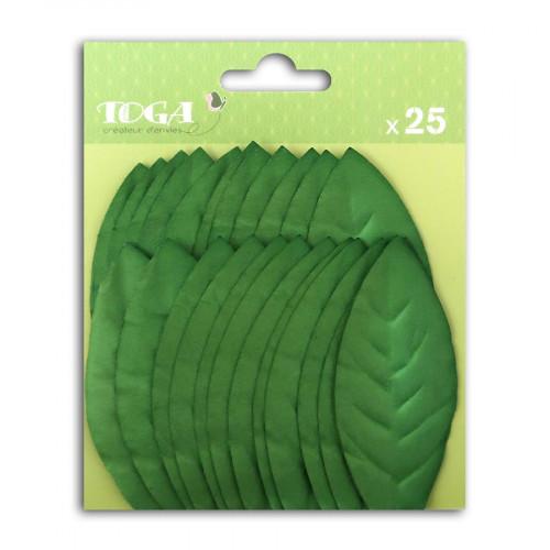 Feuilles en papier vert foncé - 25 pcs