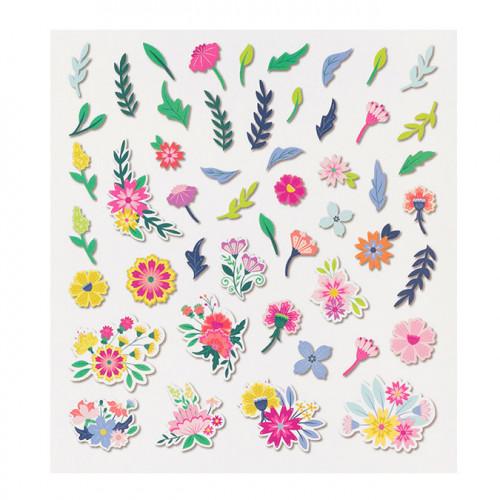 Horizon Fleurs découpées en papier - 50 pcs