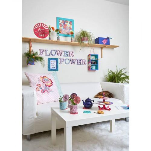Flower Power - Eventails en papier - 6 pcs
