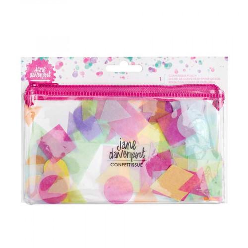 Trousse avec découpes en papier de soie Confettissue