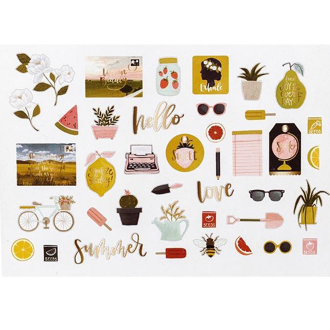 Goldenrod Découpes en papier - 40 pcs