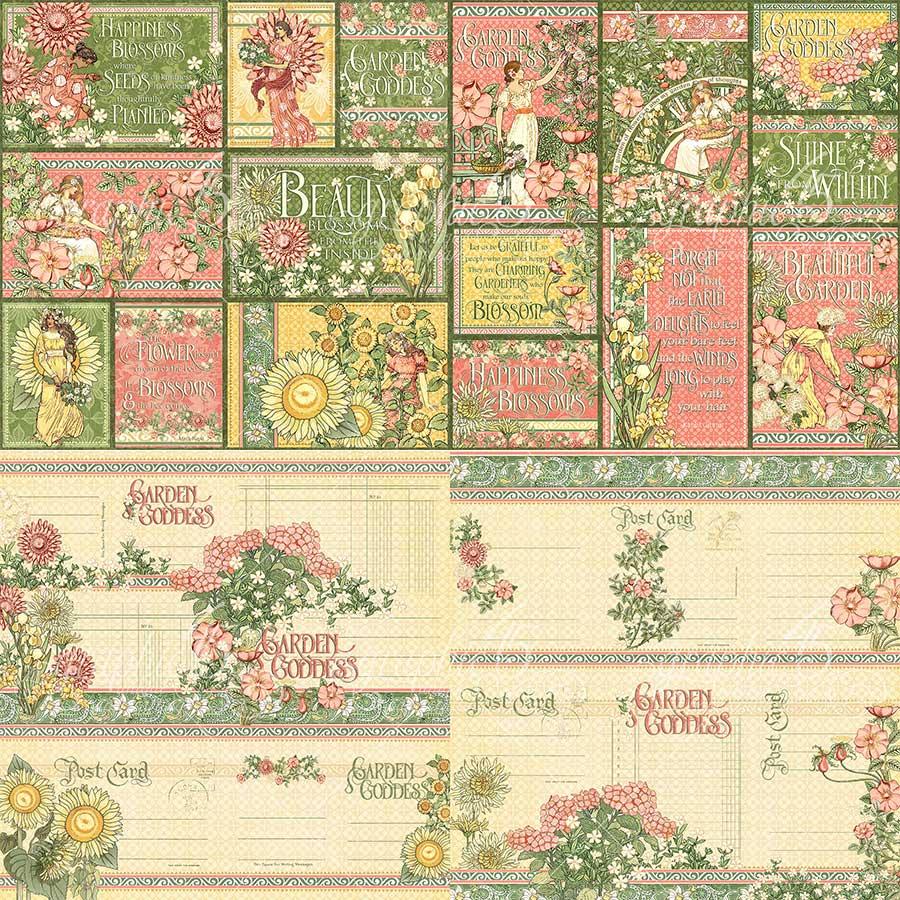 Garden Goddess Cartes pour le journaling - 32 pcs