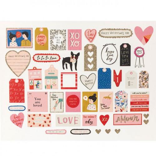 La La Love Formes découpées - 44 pcs