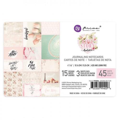 Cartes pour le journaling Love Story - 10,2 x 15,2 cm