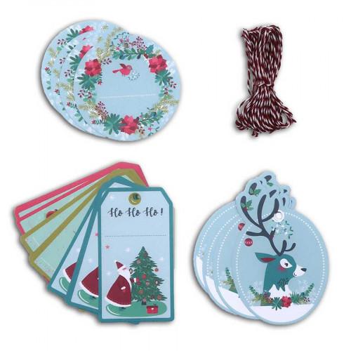 Kit étiquettes Un Renne à Noël - 20 pcs