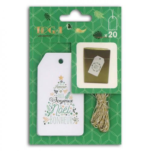 Kit étiquettes Bombay Or et Vert