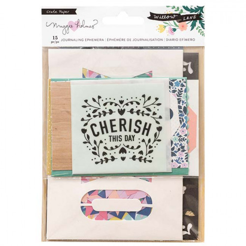 Willow Lane Cartes pour le journaling - 16 pcs