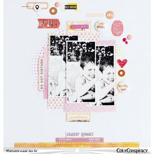 Gradient Romance Planche d'étiquettes