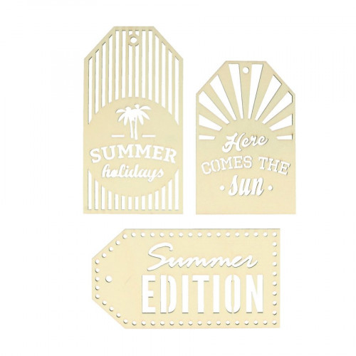 Sweet Memories - Etiquettes en bois - Summer - 3 pcs