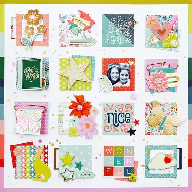 Whimsical Découpes en papier - 40 pcs