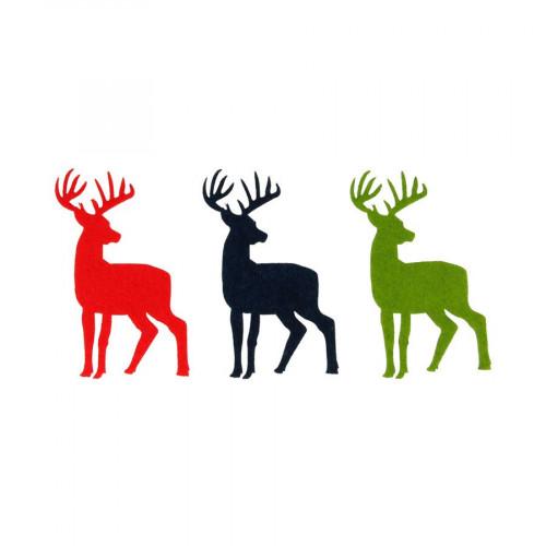 Noël Ecossais - Cerfs en feutrine - 3 pcs