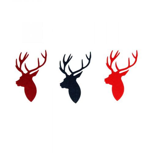 Noël Ecossais - Têtes de cerfs en feutrine - 3 pcs