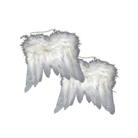 Ailes d'anges en plumes - Blanc petit modèle