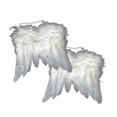 Ailes d'ange en plumes - Blanc