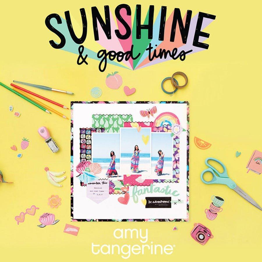 Ephemera finition Puffy Sunshine & Good Times - 6 pcs