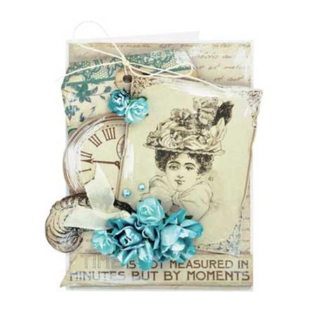 Fleurs en papier - Sea Breeze - 10 pcs