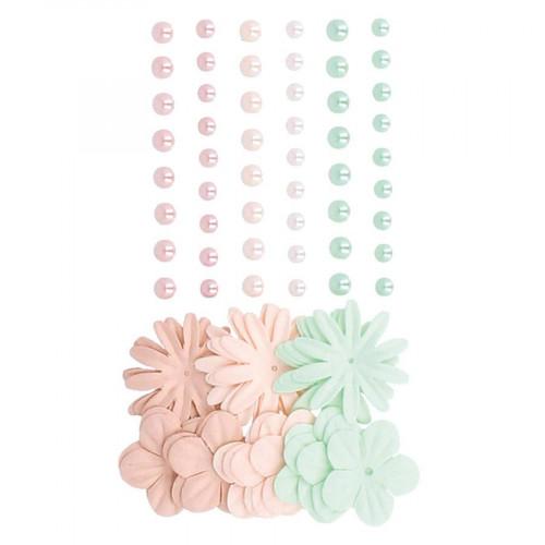 Fleurs en papier et Demi-Perles Secret Garden