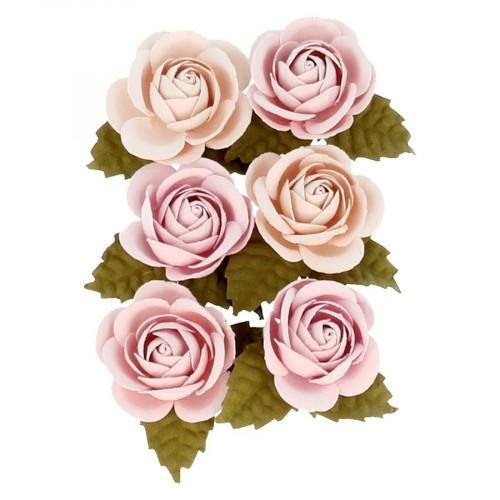Fleurs en papier Secret Garden - 6 pcs
