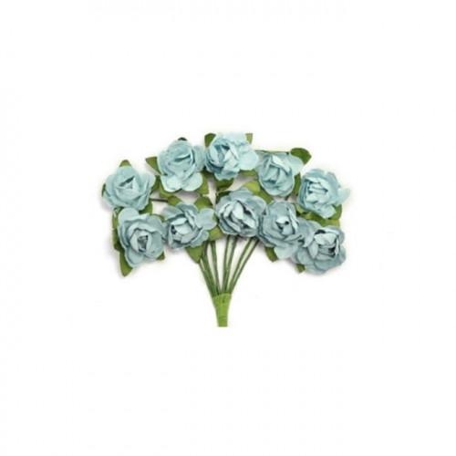 Mini fleurs en papier - Iceberg - 10 pcs