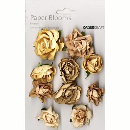 Fleurs beige en papier