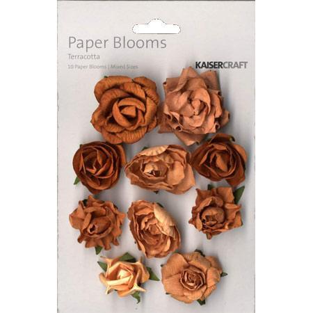 Fleur papier  - Terracotta