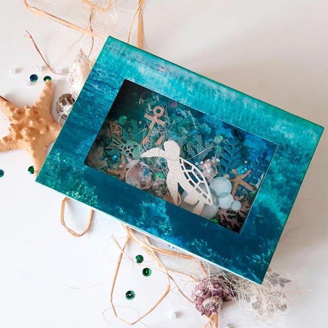 Mini fleurs en papier - Sea Breaze - 10 pcs