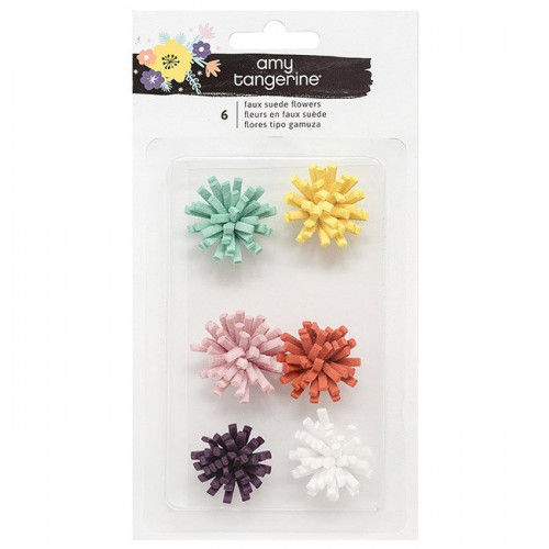 Shine On Fleurs en daim - 6 pcs