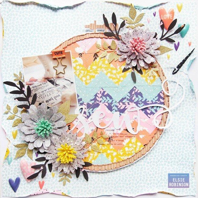 Shine On Fleurs en daim - 6 pcs